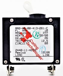 CIRCUIT BREAKER, 10.0 AMP / 2 POLE / MOTOR TYPE. Replaces 244B-12-4255 Direct replacement for the 7.5 amp turning motor breaker