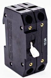 CIRCUIT BREAKER: 12.5 AMPS / 2 POLE / MOTOR TYPE / RAIL MOUNTED