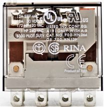 RELAY 24VDC 10A 3-POLE INDICATOR