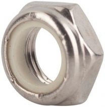 NUT 0.25-20 ELASTICK LOCK STAINLESS STEEL-THIN