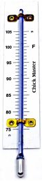 """HYGROMETER SCALE AND TUBE ONLY, 1-1/4"""" X 6-1/2"""" (75° F. TO 105° F.)"""