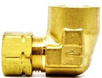 CONNECTOR POLY TUBE, 3/8 X 1/4 NPT, 90 DG., FEMALE.