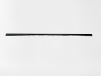 "Trim PVC Black Channel .87"" x 1.25"" x 69.37"""
