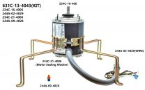 "Motor Assembly  Upper -1/4 H.P, 230V, With 17"", Conduit & Wire for 60/90/ VFS/VFP Hatchers"
