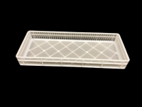 PLASTIC 132 EGG BASKET WHITE (SOLD IN MULTIPLES OF 54)