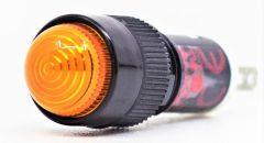 10MM PILOT LIGHT, 24V AC/DC, LED, AMBER